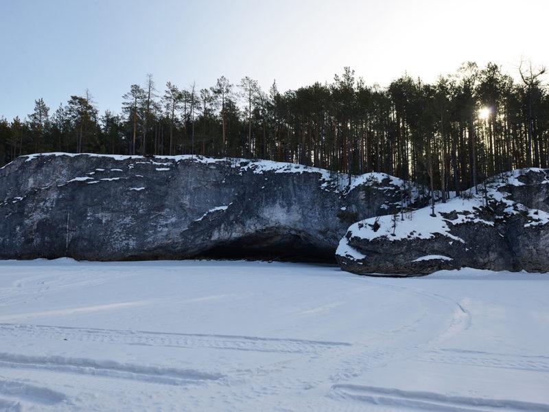 Скалы на р. Лозьва